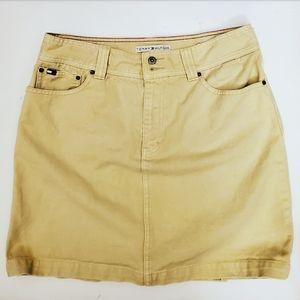 Tommy Hilfiger Womens Tan Denim Skirt Sz: 32 W